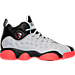Right view of Boys' Grade School Jordan Jumpman Team II Basketball Shoes in Wolf Grey/Infrared/Black