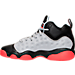 Left view of Boys' Grade School Jordan Jumpman Team II Basketball Shoes in Wolf Grey/Infrared/Black