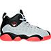 Right view of Boys' Preschool Jordan Jumpman Team II Basketball Shoes in Wolf Grey/Infrared/Black