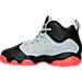 Left view of Boys' Preschool Jordan Jumpman Team II Basketball Shoes in Wolf Grey/Infrared/Black