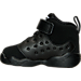 Left view of Boys' Toddler Jordan Jumpman Team II Basketball Shoes in 001