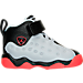 Right view of Boys' Toddler Jordan Jumpman Team II Basketball Shoes in Wolf Grey/Infrared/Black