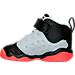 Left view of Boys' Toddler Jordan Jumpman Team II Basketball Shoes in Wolf Grey/Infrared/Black