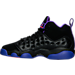 Left view of Girls' Grade School Jordan Jumpman Team II (3.5y-9.5y) Basketball Shoes in 017
