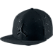 Front view of Air Jordan Speckle Print Snapback Hat in Black/Reflective Black