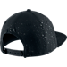 Back view of Air Jordan Speckle Print Snapback Hat in Black/Reflective Black