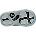 Bottom view of Boys' Toddler Jordan Horizon Basketball Shoes in Black/White
