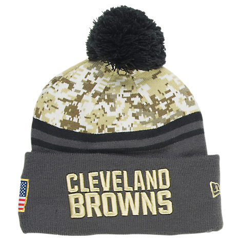 New Era Cleveland Browns NFL 2016 Salute To Service Knit Hat