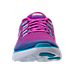 Front view of Women's Nike Free Distance Running Shoes in Hyper Volt/Blue Tint/Purple