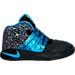 Right view of Boys' Toddler Nike Kyrie 2 Basketball Shoes in Black/Blue Glow/Anthracite