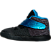 Left view of Boys' Toddler Nike Kyrie 2 Basketball Shoes in Black/Blue Glow/Anthracite