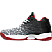 Left view of Men's Air Jordan XX9 Low Basketball Shoes in White/Black/Gym Red