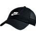 Front view of Women's Nike Heritage 86 Adjustable Back Hat in Black