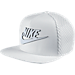 Front view of Nike Seasonal Mesh Pro Adjustable Hat in White/White