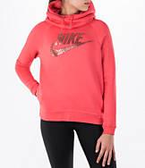 Women's Nike Sportswear Rally Funnel Neck Metallic Hoodie