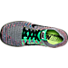 Top view of Women's Nike Free RN Flyknit Running Shoes in White/Black/Total Crimson/Blue Lagoon