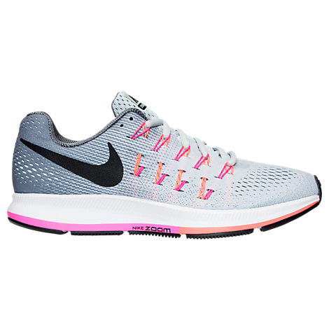 womens nike zoom pegasus 33 grey pink