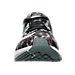 Front view of Men's Nike Zoom Elite 8 Print Running Shoes in Black/White/Pure Platinum/Cool Grey