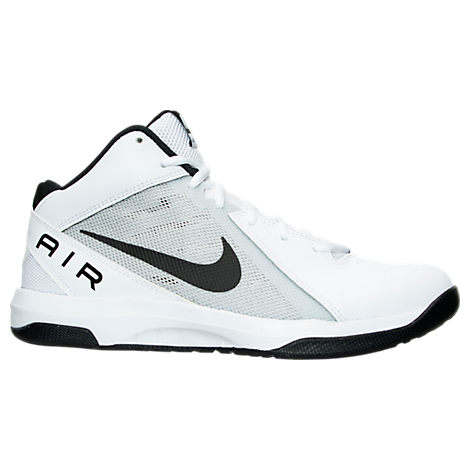 Nike Mens Air Overplay IX Basketball Shoes (White/Black/Pure Platinum)