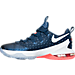 Left view of Men's Nike LeBron 13 Low Basketball Shoes in Coastal Blue/White/Bright Crimson