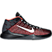 Right view of Men's Nike Zoom Ascention Basketball Shoes in Black/White/Bright Crimson/Black