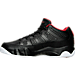 Left view of Men's Air Jordan Retro 9 Low Basketball Shoes in Black/Gym Red/White