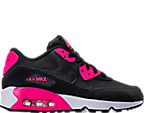 Girls' Grade School Nike Air Max 90 Leather Casual Shoes