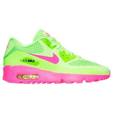 Girls' Grade School Nike Air Max 90 Breathe Running Shoes