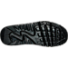 Bottom view of Boys' Grade School Nike Air Max 90 Leather Running Shoes in Black/Black