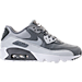 Right view of Boys' Grade School Nike Air Max 90 Leather Running Shoes in Cool Grey/Wolf Grey/Pure Platinum