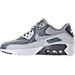 Left view of Boys' Grade School Nike Air Max 90 Leather Running Shoes in Cool Grey/Wolf Grey/Pure Platinum