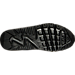 Bottom view of Boys' Grade School Nike Air Max 90 Mesh Running Shoes in Black/Black/Metallic Gold
