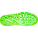 Bottom view of Boys' Grade School Nike Air Max 90 Breathe Running Shoes in Racer Blue/Electric Green/Black