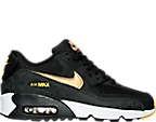 Boys' Grade School Nike Air Max 90 Print Mesh Running Shoes