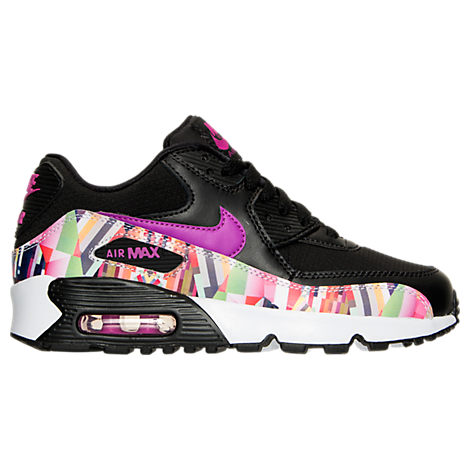 Girls' Grade School Nike Air Max 90 Print Mesh Running Shoes