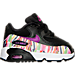 Right view of Girls' Toddler Nike Air Max 90 SE Mesh Running Shoes in Black/Hyper Violet/Hyper Violet
