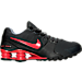 Right view of Men's Nike Shox Avenue Running Shoes in Anthracite/Action Red/Action Red/Black