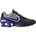 Right view of Men's Nike Shox Avenue Leather Running Shoes in Anthracite/Paramount Blue/Matte Silver