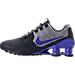 Left view of Men's Nike Shox Avenue Leather Running Shoes in Anthracite/Paramount Blue/Matte Silver