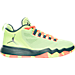 Right view of Boys' Grade School Jordan CP3 9 AE Basketball Shoes in Ghost Green/Metallic Silver