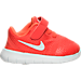 Right view of Boys' Toddler Nike Free RN Running Shoes in Max Orange/Pure Platinum/Orchid