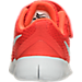 Bottom view of Boys' Toddler Nike Free RN Running Shoes in Max Orange/Pure Platinum/Orchid