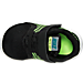 Top view of Boys' Toddler Nike Free Commuter Running Shoes in Black/Reflect Silver/Electric Green
