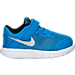 Right view of Boys' Toddler Nike Flex 2016 RN Running Shoes in Photo Blue/Metallic Silver/Black
