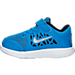Left view of Boys' Toddler Nike Flex 2016 RN Running Shoes in Photo Blue/Metallic Silver/Black