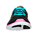 Front view of Girls' Grade School Nike Flex 2016 Running Shoes in Black/Volt/Gamma Blue/Pink Blast