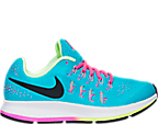 Girls' Grade School Nike Zoom Pegasus 33 Running Shoes