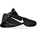 Right view of Boys' Grade School Nike Zoom Ascention Basketball Shoes in Black/White
