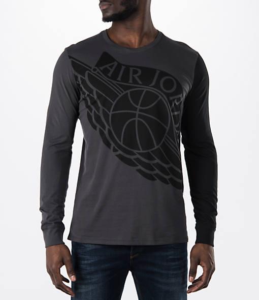 Men's Air Jordan Stretched Wings Long-Sleeve T-Shirt