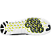 Bottom view of Men's Nike Free RN Motion Running Shoes in Black/White/Volt/Dark Grey